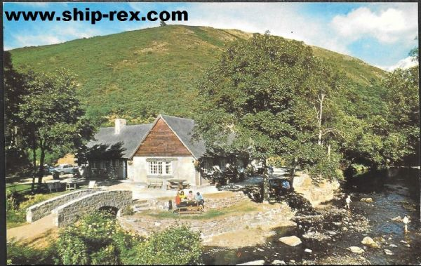 Fingle Bridge, The Angler's Rest - Jarrold postcard